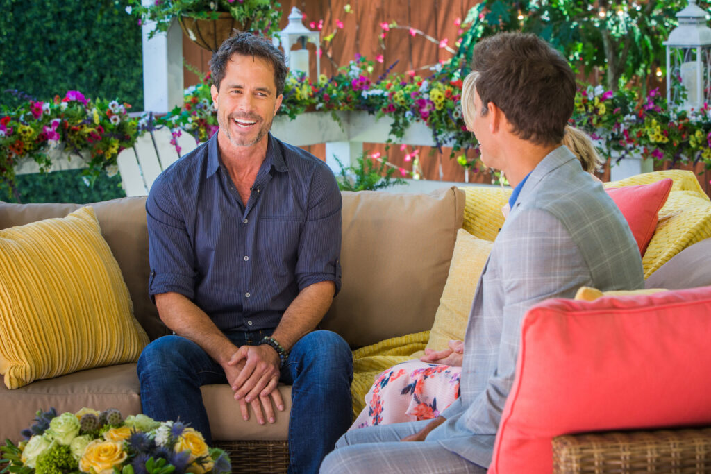 "Debbie Matenopoulos and Cameron Mathison welcome actor Shawn Christian from the Hallmark Channel original movie ""Love in the Sun."" Actress Katy Mixon visits our home. ""Rustic Joyful Food"" author, Danielle Kartes whips up an apricot and almond shortbread galette. Pure Organic founder, Veronica Lehman prepares the perfect veggie burger. ""Own Your Everyday"" author, Jordan Lee Dooley discusses tackling obstacles and reaching our goals. Larissa Wohl is joined by Dr. Russell Clothier from Shep's Place Senior Dog Sanctuary. Ali Fedotowsky-Manno creates no-sew beach bags. Kym Douglas shows us all-natural oral care. Orly Shani has DIY best friends planters. Maria Provenzano helps simplify our morning routines.    Credit: © 2019 Crown Media United States, LLC 